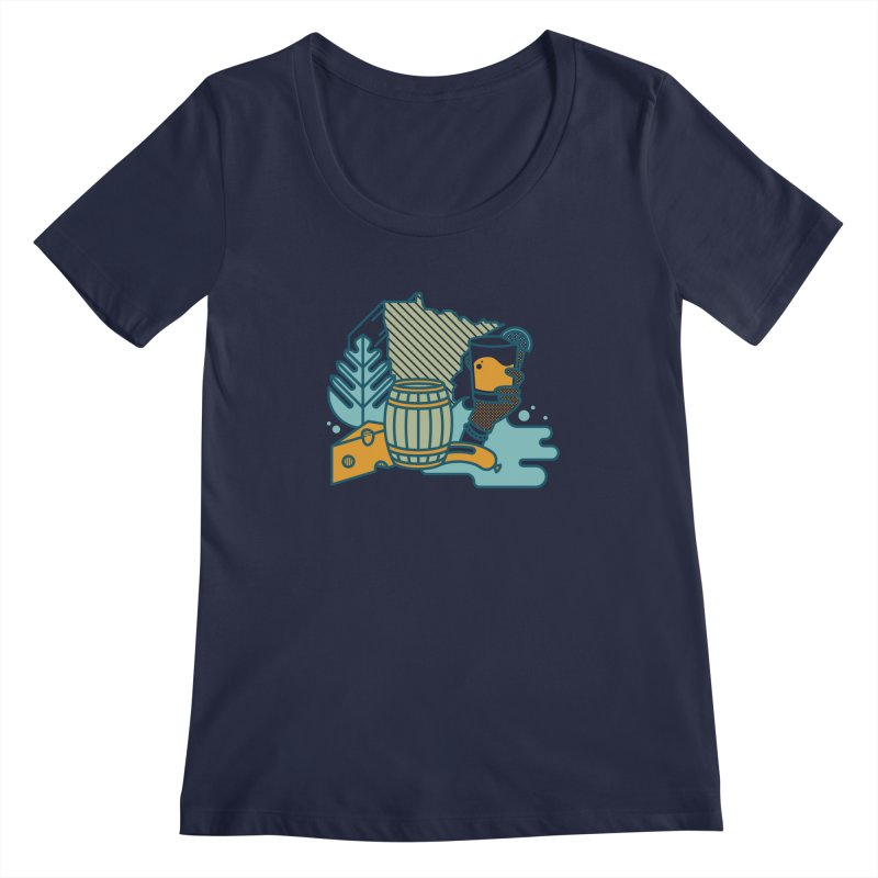 Here Comes a Regular (Apparel) Women's Regular Scoop Neck by bellyup's Artist Shop