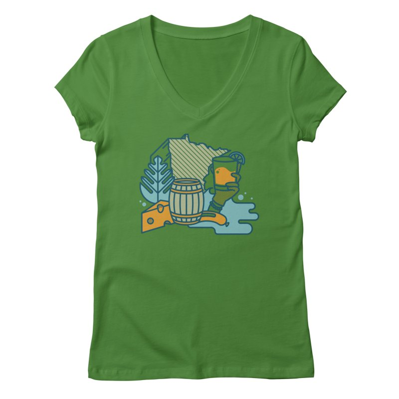 Here Comes a Regular (Apparel) Women's Regular V-Neck by bellyup's Artist Shop