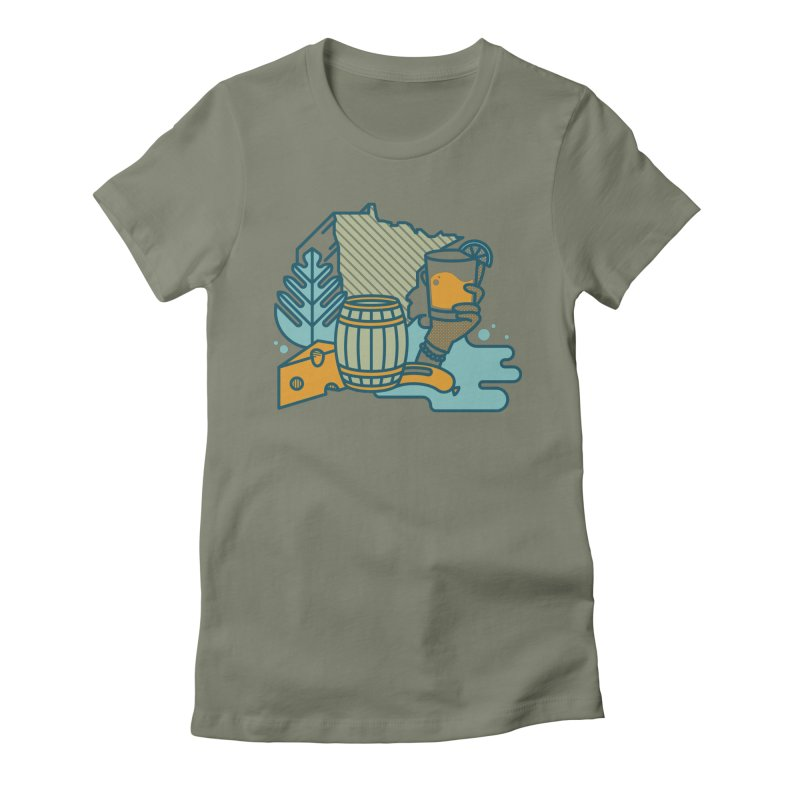 Here Comes a Regular (Apparel) Women's Fitted T-Shirt by bellyup's Artist Shop