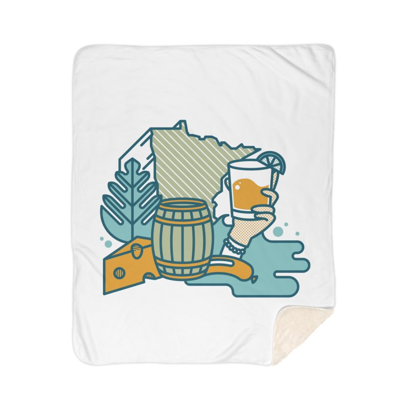 Here Comes a Regular (Apparel) Home Sherpa Blanket Blanket by bellyup's Artist Shop