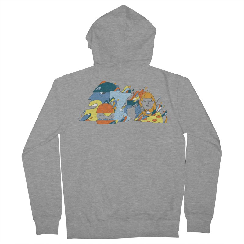 Color Me Impressed (Apparel) Women's French Terry Zip-Up Hoody by bellyup's Artist Shop