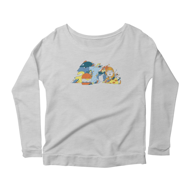 Color Me Impressed (Apparel) Women's Scoop Neck Longsleeve T-Shirt by bellyup's Artist Shop
