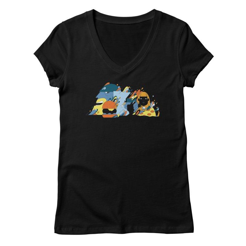 Color Me Impressed (Apparel) Women's Regular V-Neck by bellyup's Artist Shop