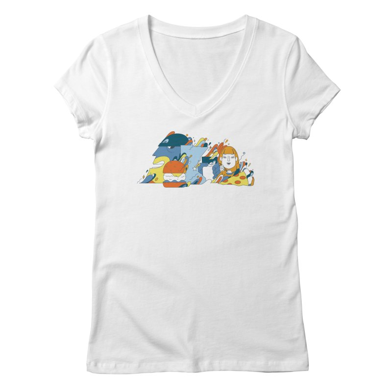 Color Me Impressed (Apparel) Women's Regular V-Neck by bellyup's Artist Shop