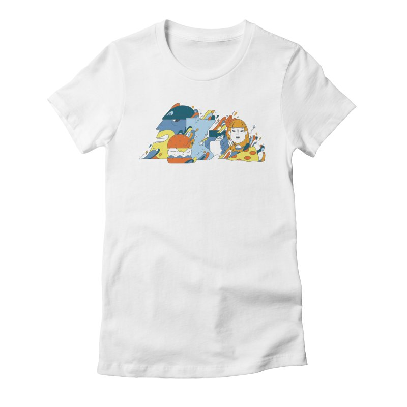 Color Me Impressed (Apparel) Women's Fitted T-Shirt by bellyup's Artist Shop