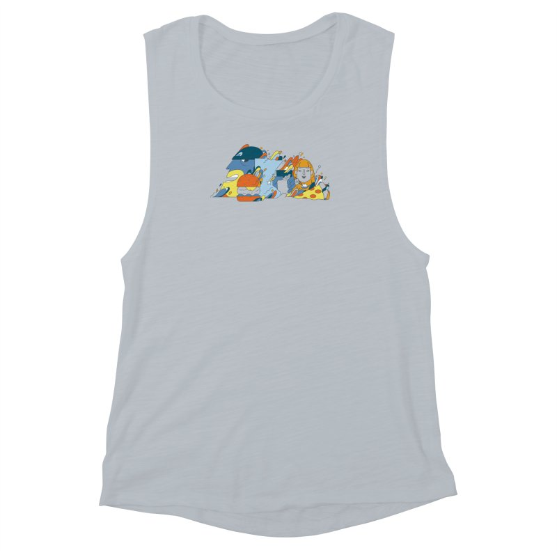 Color Me Impressed (Apparel) Women's Muscle Tank by bellyup's Artist Shop