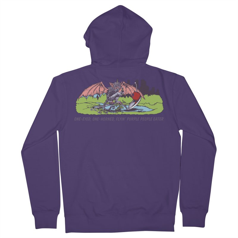 Flyin' Purple People Eater (Apparel) Women's Zip-Up Hoody by bellyup's Artist Shop
