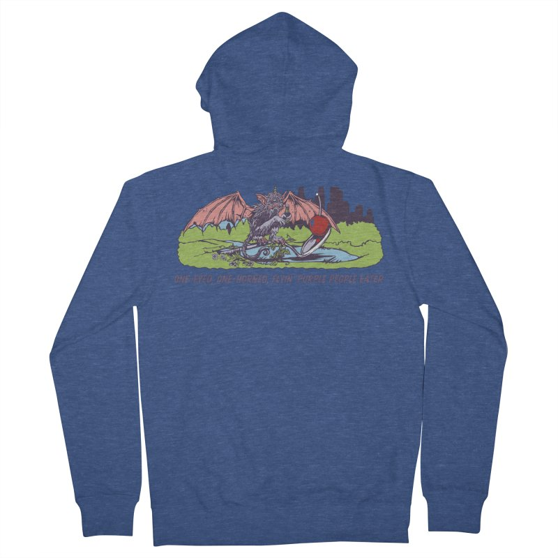 Flyin' Purple People Eater (Apparel) Men's Zip-Up Hoody by bellyup's Artist Shop