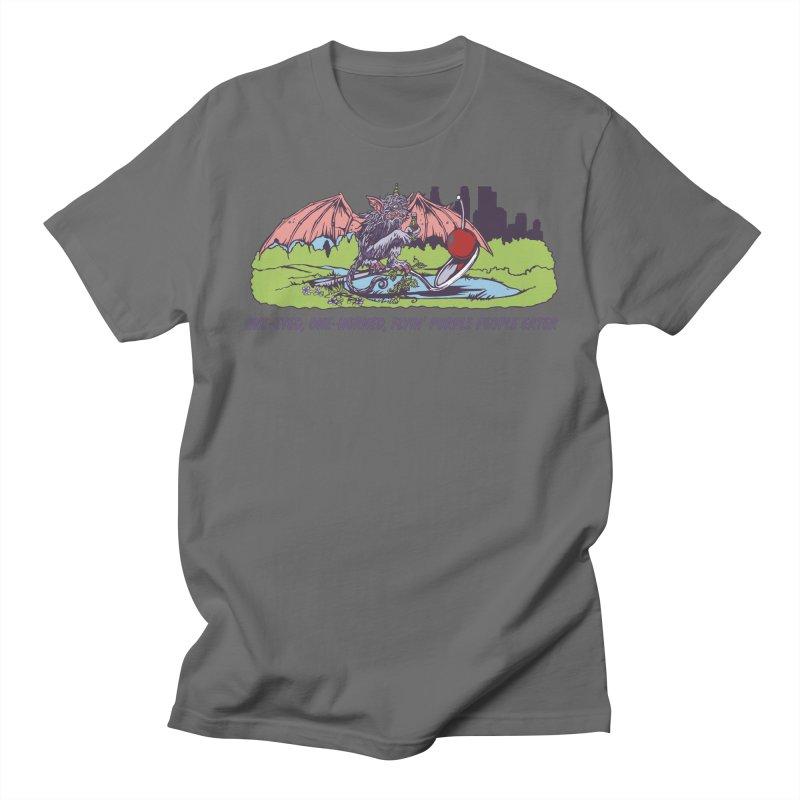Flyin' Purple People Eater (Apparel) Men's T-Shirt by bellyup's Artist Shop