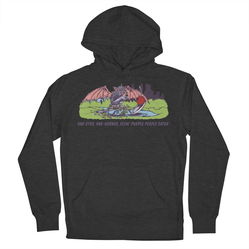 Flyin' Purple People Eater (Apparel) Women's French Terry Pullover Hoody by bellyup's Artist Shop