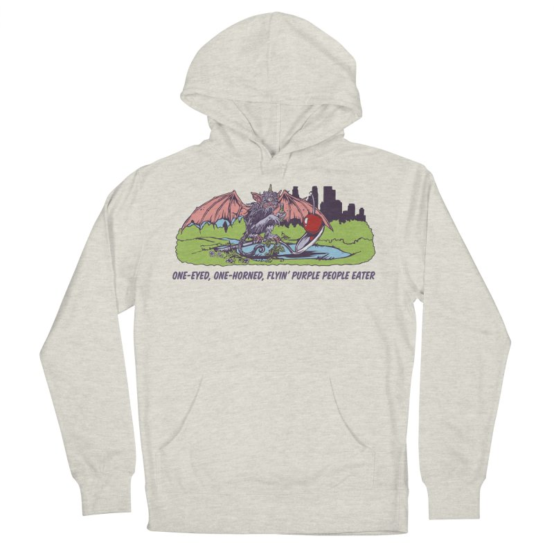 Flyin' Purple People Eater (Apparel) Men's French Terry Pullover Hoody by bellyup's Artist Shop