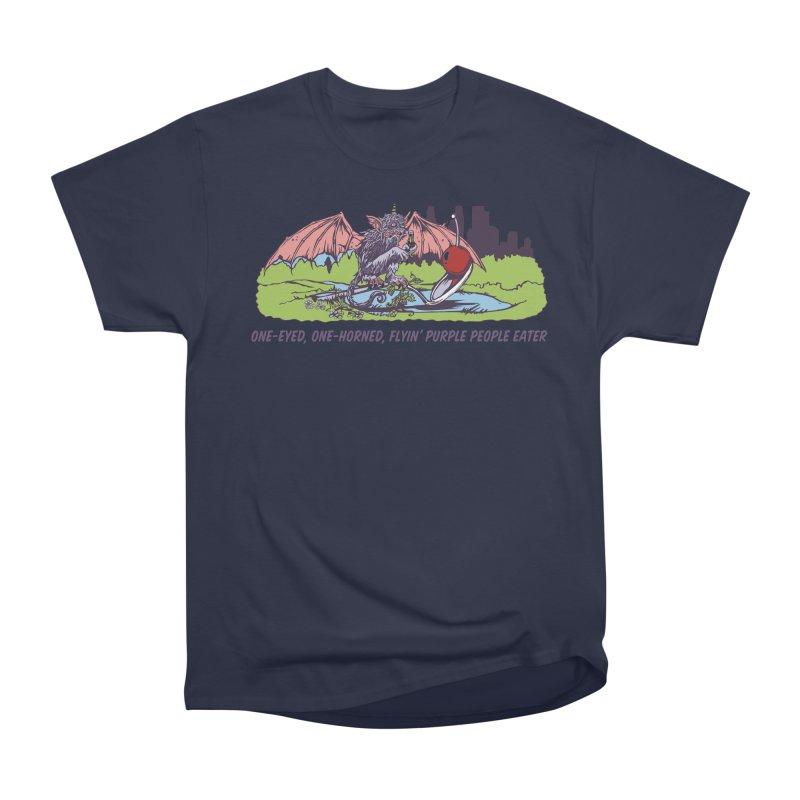 Flyin' Purple People Eater (Apparel) Men's Heavyweight T-Shirt by bellyup's Artist Shop