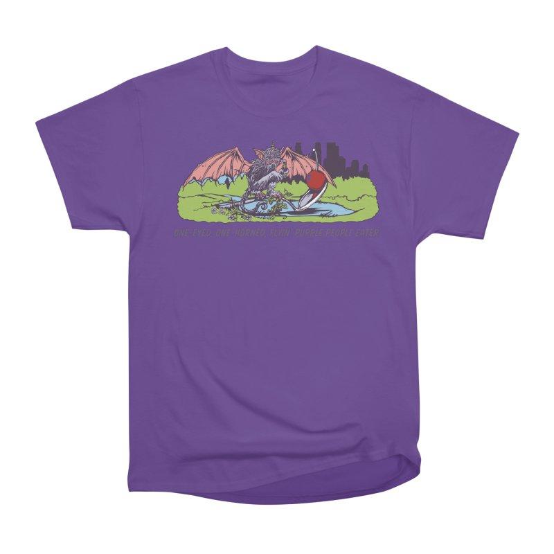 Flyin' Purple People Eater (Apparel) Women's Heavyweight Unisex T-Shirt by bellyup's Artist Shop