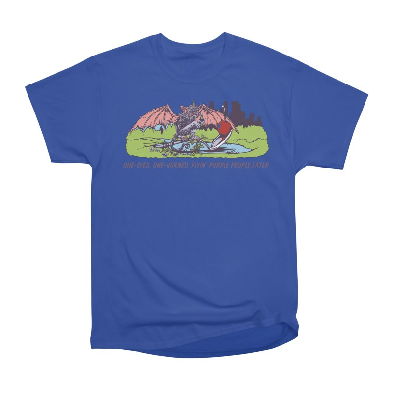 Flyin' Purple People Eater (Apparel) Men's Heavyweight T-Shirt by bellyup's Artist Shop
