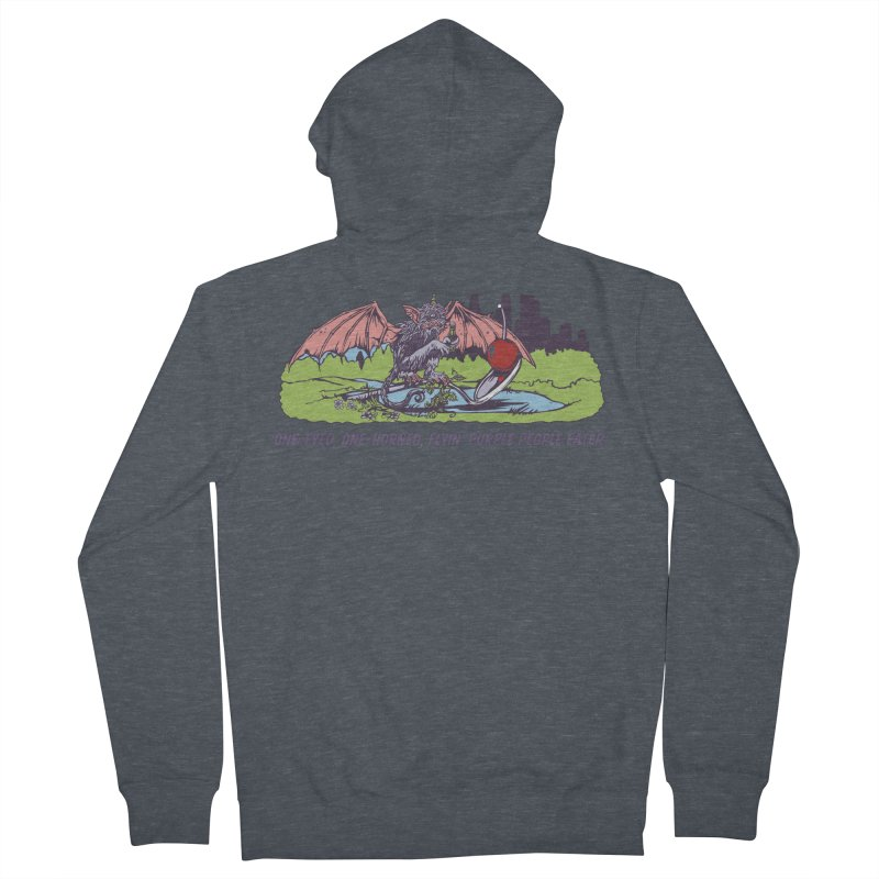 Flyin' Purple People Eater (Apparel) Men's French Terry Zip-Up Hoody by bellyup's Artist Shop