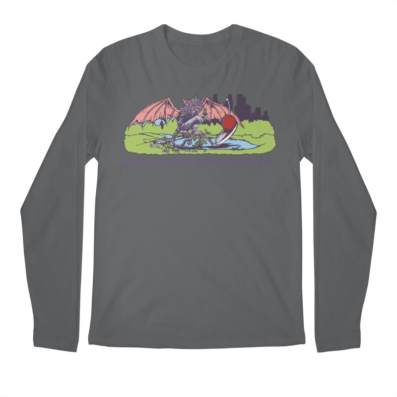 Flyin' Purple People Eater (Apparel) Men's Longsleeve T-Shirt by bellyup's Artist Shop