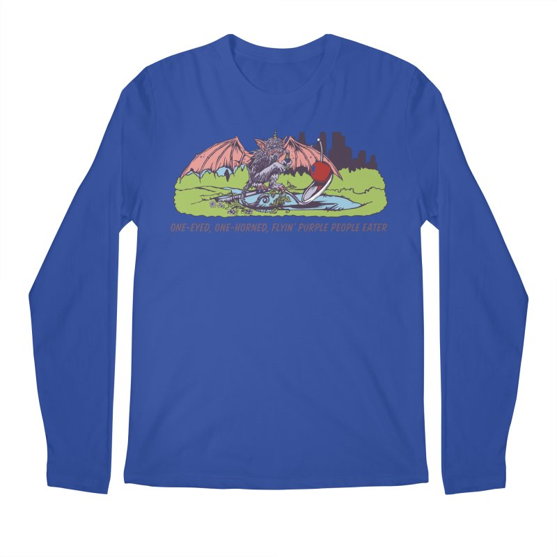 Flyin' Purple People Eater (Apparel) Men's Regular Longsleeve T-Shirt by bellyup's Artist Shop