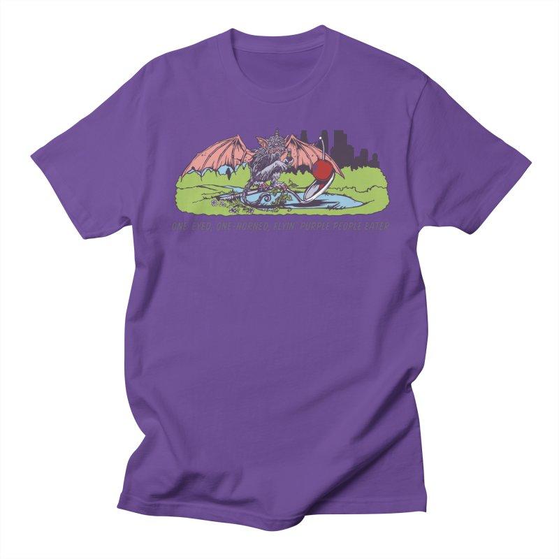 Flyin' Purple People Eater (Apparel) Men's Regular T-Shirt by bellyup's Artist Shop