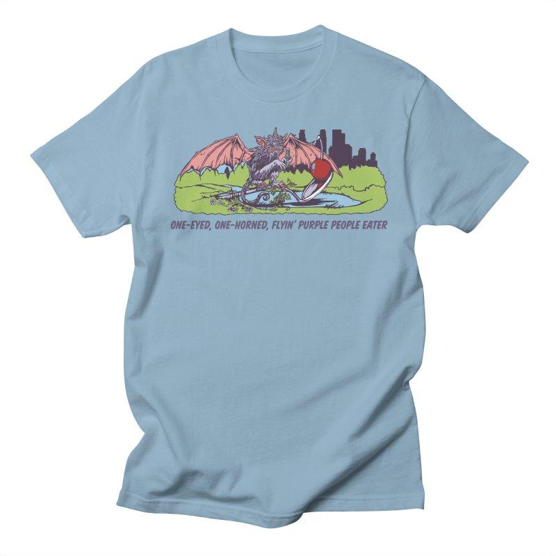 Flyin' Purple People Eater (Apparel) Women's Regular Unisex T-Shirt by bellyup's Artist Shop
