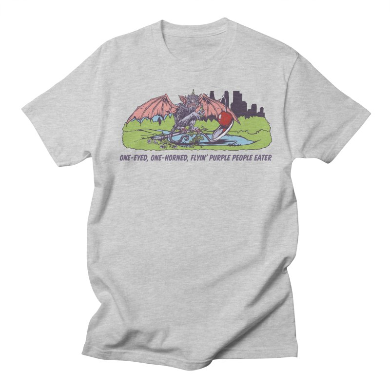 Flyin' Purple People Eater (Apparel) Men's T-Shirt by bellyup's Artist Shop
