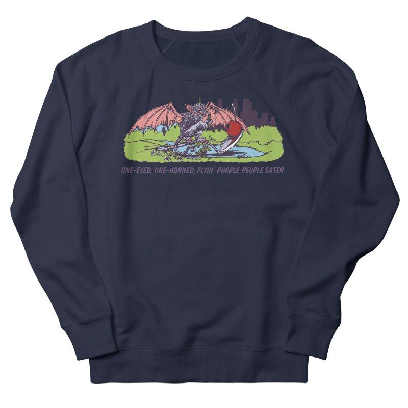 Flyin' Purple People Eater (Apparel) Women's French Terry Sweatshirt by bellyup's Artist Shop