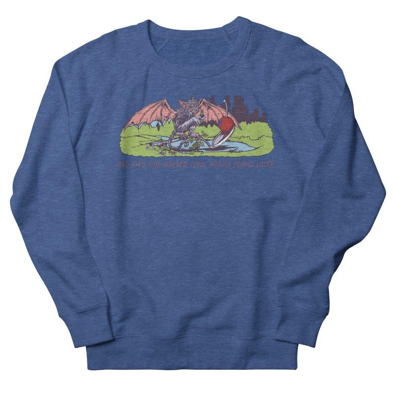 Flyin' Purple People Eater (Apparel) Men's French Terry Sweatshirt by bellyup's Artist Shop