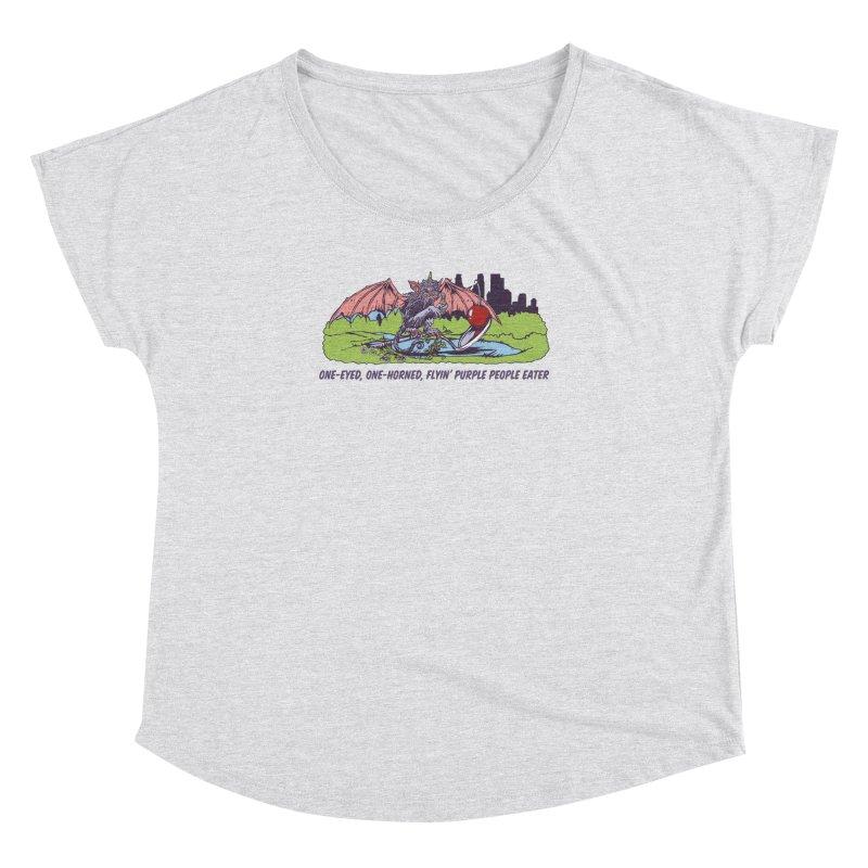 Flyin' Purple People Eater (Apparel) Women's Dolman Scoop Neck by bellyup's Artist Shop