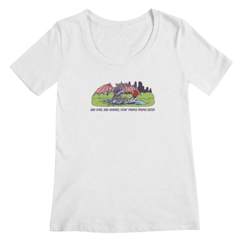 Flyin' Purple People Eater (Apparel) Women's Scoop Neck by bellyup's Artist Shop