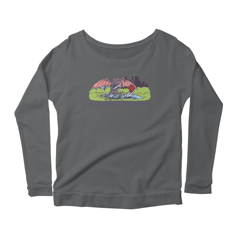 Flyin' Purple People Eater (Apparel) Women's Longsleeve T-Shirt by bellyup's Artist Shop