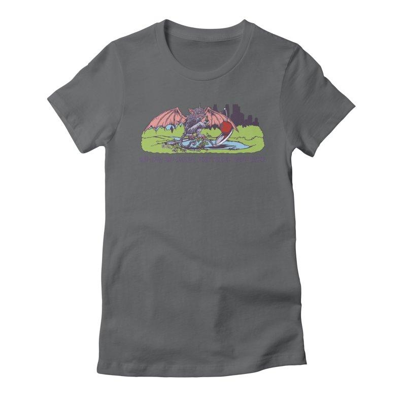 Flyin' Purple People Eater (Apparel) Women's T-Shirt by bellyup's Artist Shop