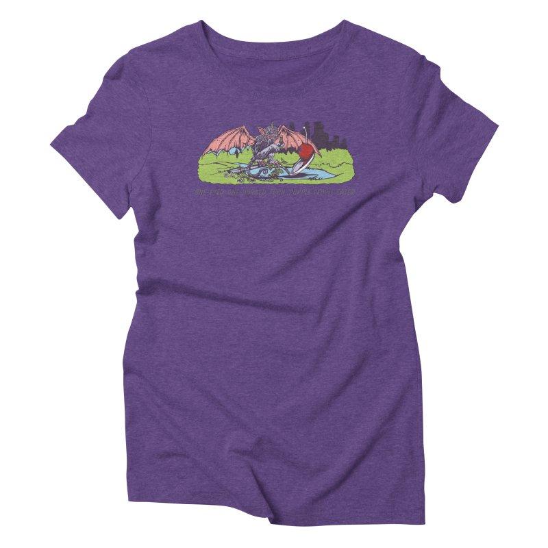 Flyin' Purple People Eater (Apparel) Women's Triblend T-Shirt by bellyup's Artist Shop