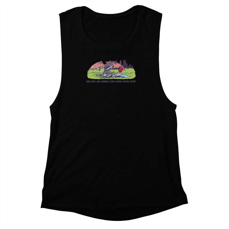Flyin' Purple People Eater (Apparel) Women's Muscle Tank by bellyup's Artist Shop