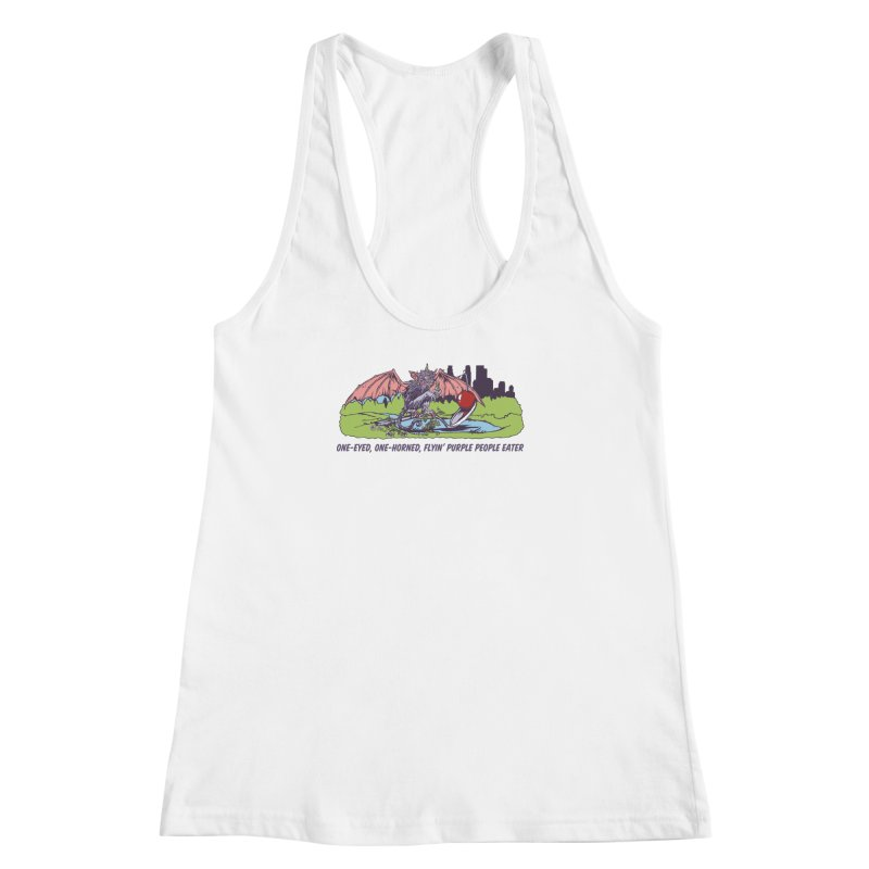 Flyin' Purple People Eater (Apparel) Women's Racerback Tank by bellyup's Artist Shop