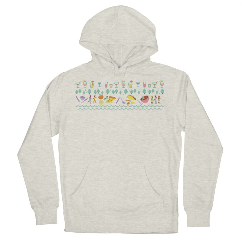 Caribe Del Norte (Apparel) Women's French Terry Pullover Hoody by bellyup's Artist Shop