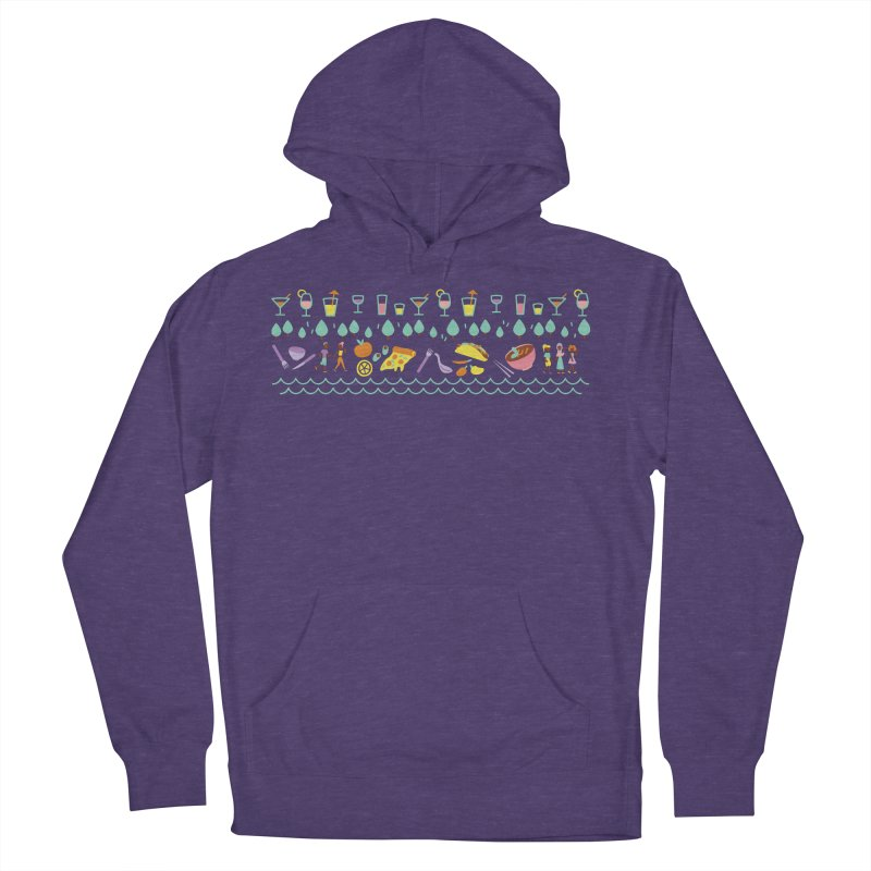 Caribe Del Norte (Apparel) Men's French Terry Pullover Hoody by bellyup's Artist Shop