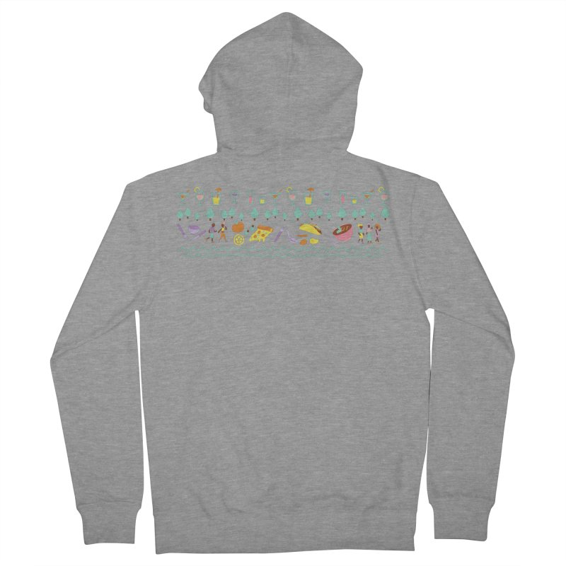 Caribe Del Norte (Apparel) Women's French Terry Zip-Up Hoody by bellyup's Artist Shop