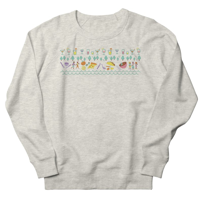 Caribe Del Norte (Apparel) Men's French Terry Sweatshirt by bellyup's Artist Shop