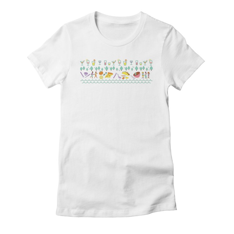 Caribe Del Norte (Apparel) Women's Fitted T-Shirt by bellyup's Artist Shop
