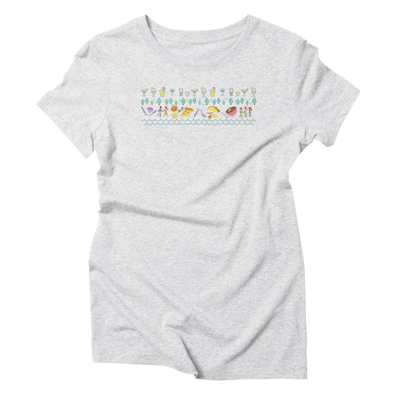 Caribe Del Norte (Apparel) Women's Triblend T-Shirt by bellyup's Artist Shop
