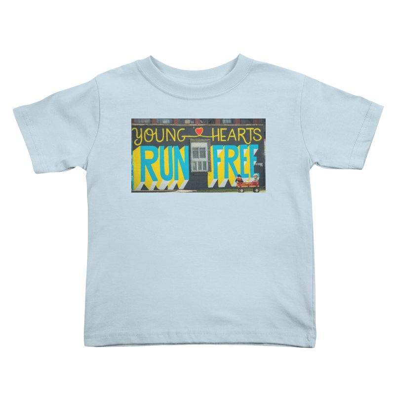 Young Hearts Run Free  Kids Toddler T-Shirt by The B.E.M.G. COLLECTION