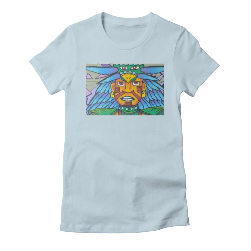 Azteca Women's Fitted T-Shirt by The B.E.M.G. COLLECTION