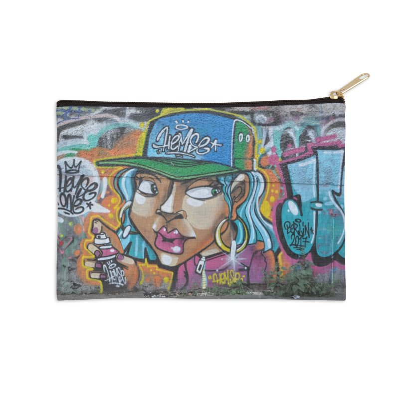 'Round the Way Girl Accessories Zip Pouch by The B.E.M.G. COLLECTION