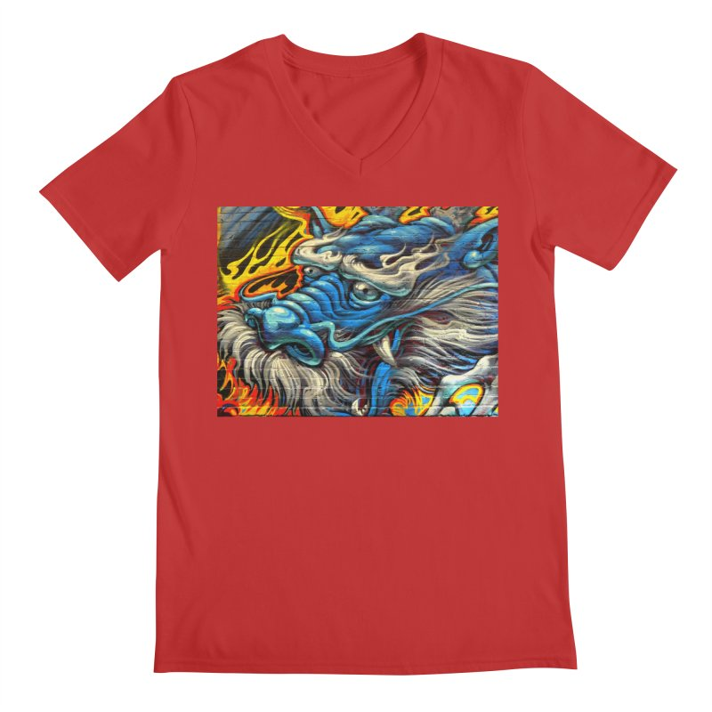 Wise Dragon Men's V-Neck by The B.E.M.G. COLLECTION