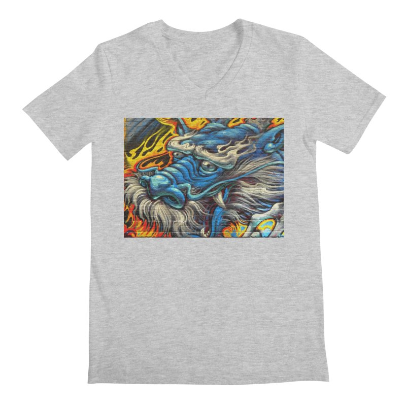 Wise Dragon Men's Regular V-Neck by The B.E.M.G. COLLECTION