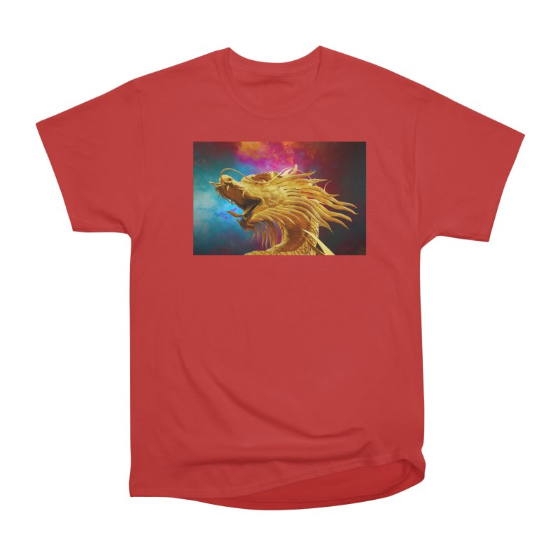 Golden Dragon Men's Heavyweight T-Shirt by The B.E.M.G. COLLECTION