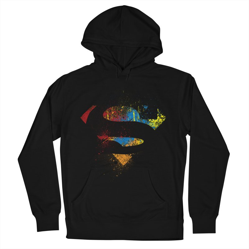 superman brushpaint symbol Men's Pullover Hoody by ben35dan's Artist Shop