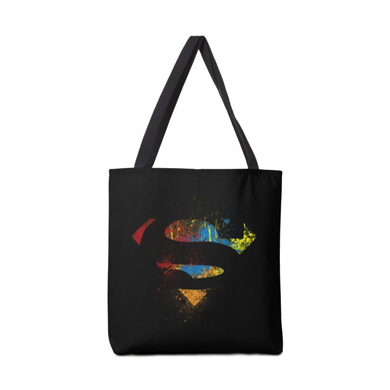superman brushpaint symbol Accessories Bag by ben35dan's Artist Shop