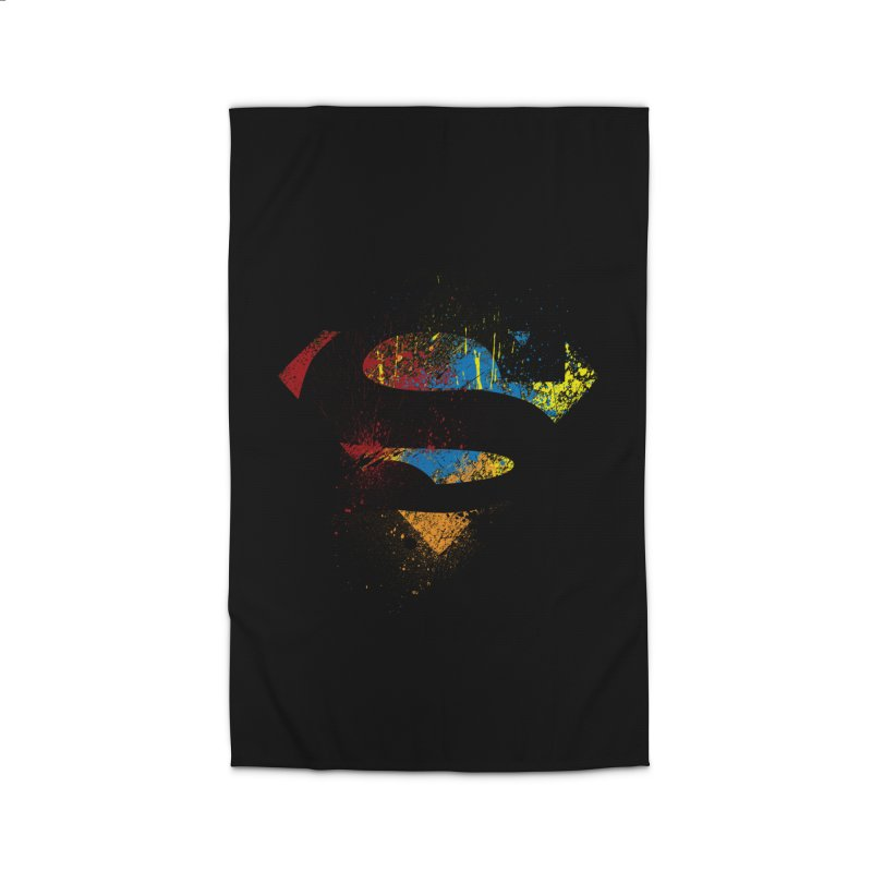 superman brushpaint symbol Home Rug by ben35dan's Artist Shop
