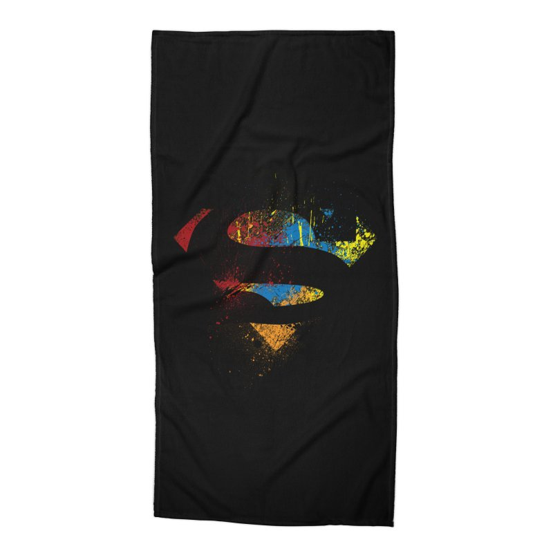 superman brushpaint symbol Accessories Beach Towel by ben35dan's Artist Shop