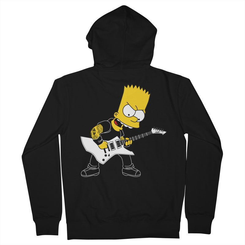 james hatfield of bart simpson Men's Zip-Up Hoody by ben35dan's Artist Shop